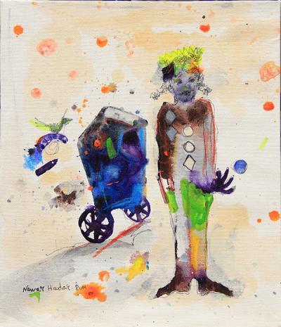 untitled 1, 2014, acrylic on canvas, 34x29cm