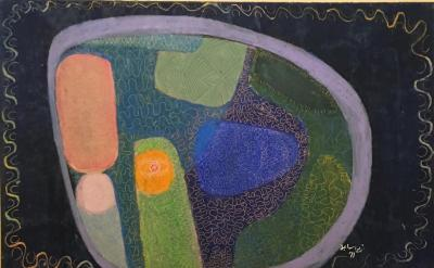 Untitled B2, 1971, Mixed media on paper, 43 x 70 cm