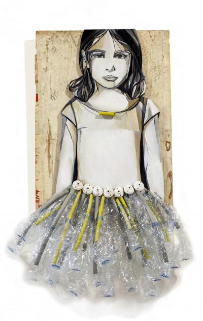 My ballerina, 2014, Up-cycled material, 155 x 80 x 30 cm