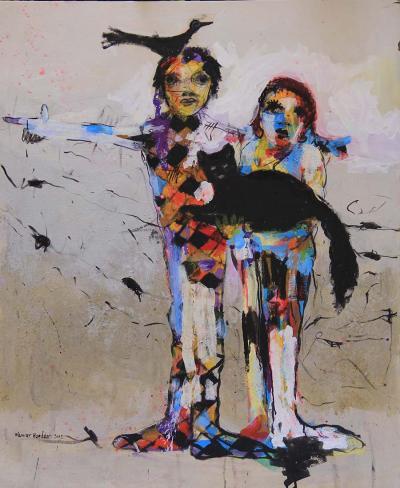 Family, 2012, Acrylic on Canvas, 120x100cm