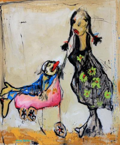 Motherhood, 2012, acrylic on canvas, 120 x 100 cm