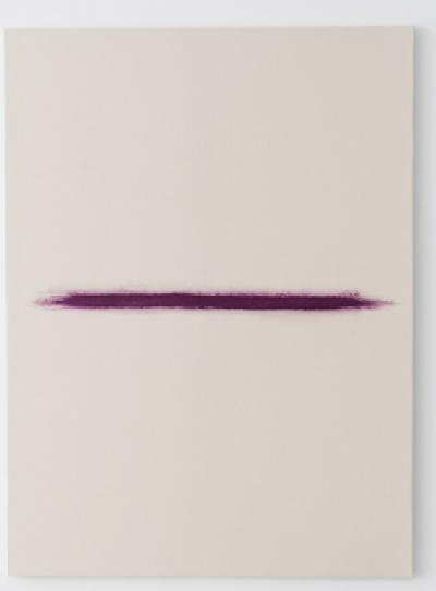 Visage de l'amour, 2019, Rose on canvas, 97 x 130 cm