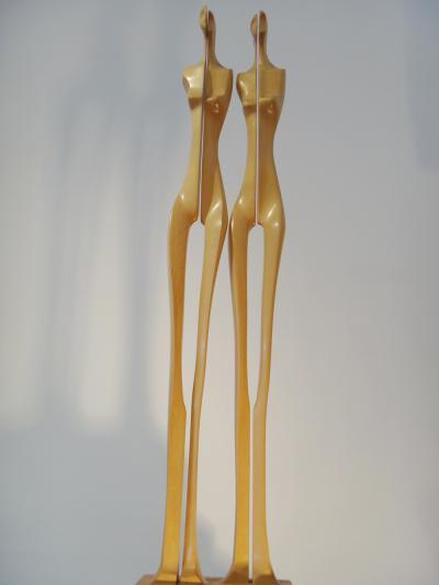 4- Vibration, maple wood, 85cm