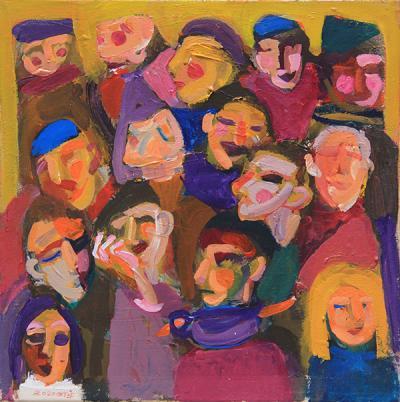 Untitled 26 2020, acrylic on canvas, 45x45cm