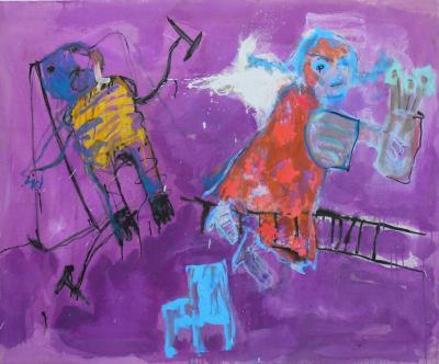 chair, 2012, acrylic on canvas, 120x100 cm