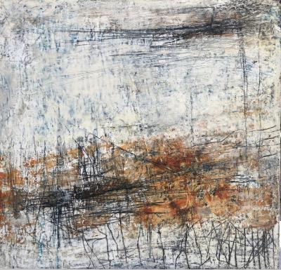 2-mixed media on canvas, 50x50cm