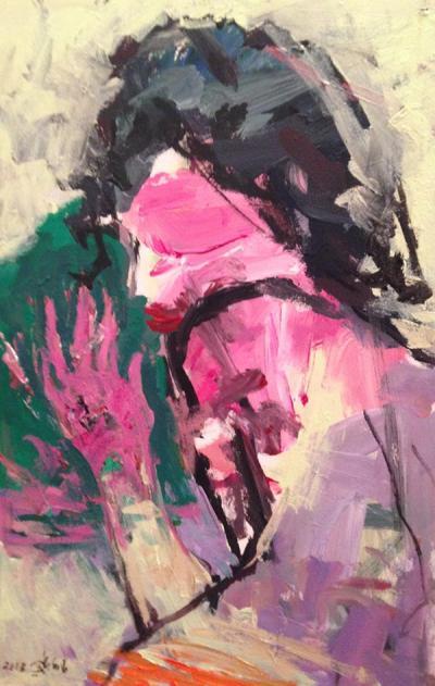 Untitled 5, 2012, acrylic on canvas, 60x40cm
