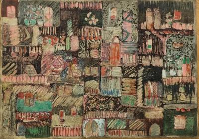 Untitled B15, 1994, Mixed media on paper, 50 x 70 cm
