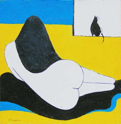 Untitled, 2013 acrylic and natural sand on canvas, 30x30cm