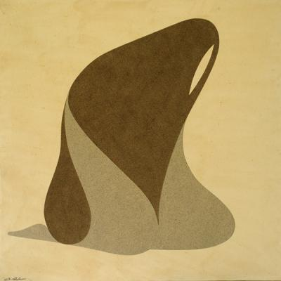 untitled, 2011, Natural sand on canvas, 120x120cm.