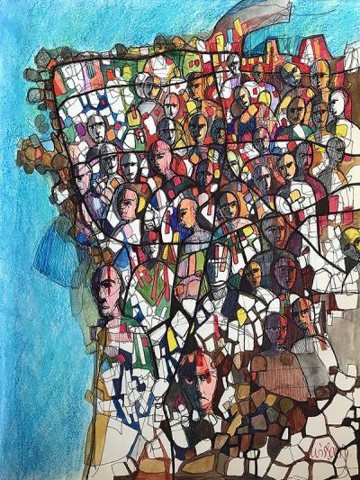 Untitled 3, Bic on paper, 21 x 27 cm