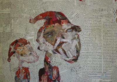 Untitled 65,2020, collage on cardboard,  30x45 cm,