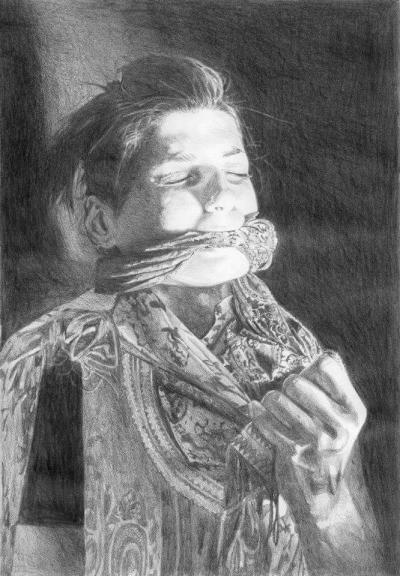 From the anonymous series, 2012, pencil on paper, 28x19cm