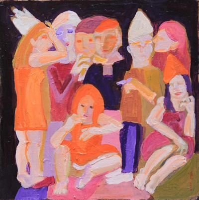 Untitled 32, 2020, acrylic  on canvas , 45 x 45 cm