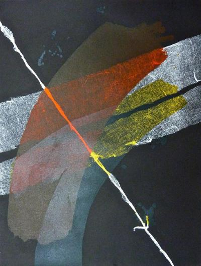 Gauze II, 2014, Monotype & lithography on cotton paper, 70x50cm