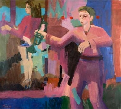 Jazzman, 2016, acrylic on linen, 122x136 cm
