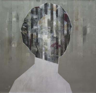 Confident 2, 2019, Mixed media on canvas, 100 x 100 cm