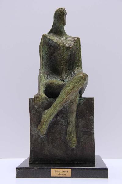 L'attente, bronze (vert), 3/8