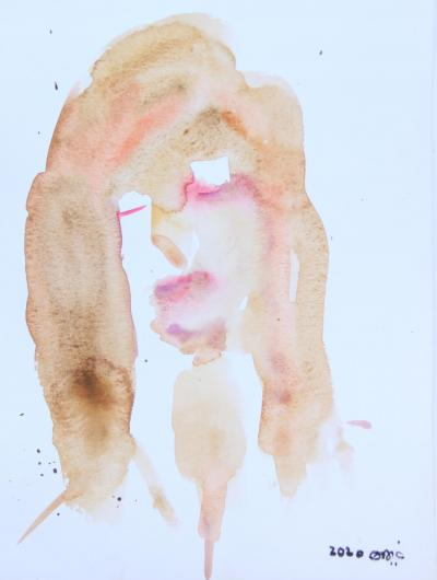 Untitled 54, watercolor on paper, 30 x 21 cm