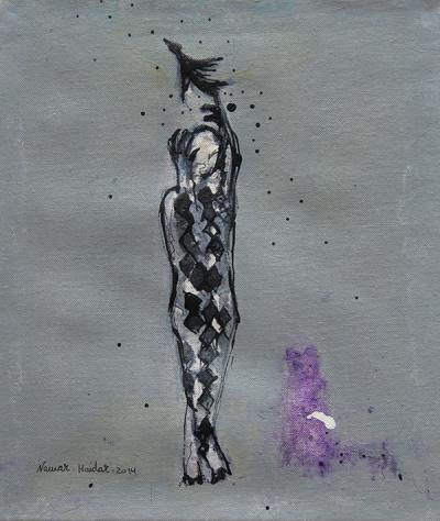 untitled 6, 2014, acrylic on canvas, 34x29cm
