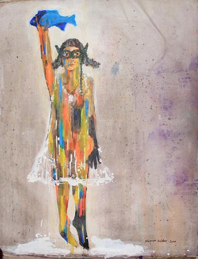 untitled 5, 2014, acrylic on canvas, 100x80m
