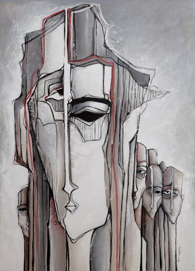Estrangement, 2014, Acrylic on canvas, 140 x 100 cm