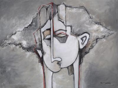 Convergence, 2014, Acrylic on canvas, 90x120cm