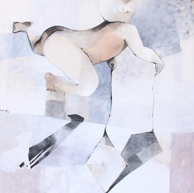 Untitled 22,  2013, mixed media on canvas,  120x120cm