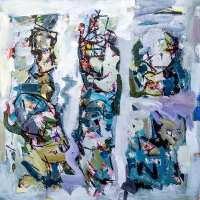 Meeting, 2019, acrylic on canvas, 150 x 150 cm