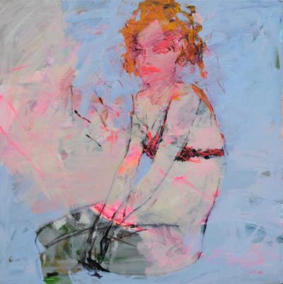 Untitled 21, 2010, acrylic on canvas, 135 x 135 cm