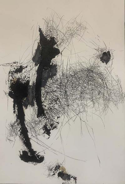 Disapearing 6, 2021  mixed media on paper 75x110cm