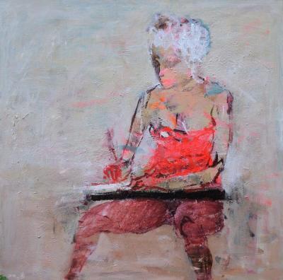 Untitled 45, 2014, acrylic on canvas, 100 x 100 cm