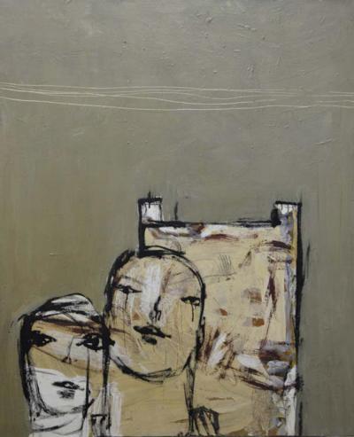 W A 5- Mixed media on canvas, 130 x100 cm