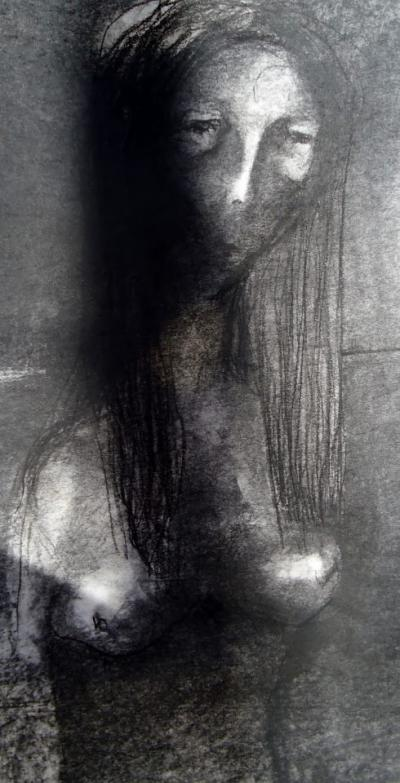 5-Untitled, chinese ink with charcoals on paper, 2010