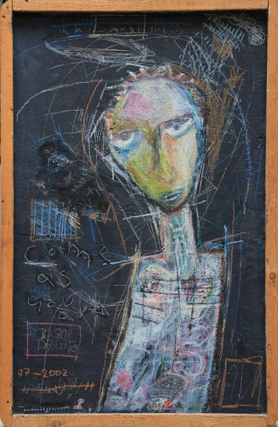 Untitled 30, 2002, Acrylic on wood, 114X75cm
