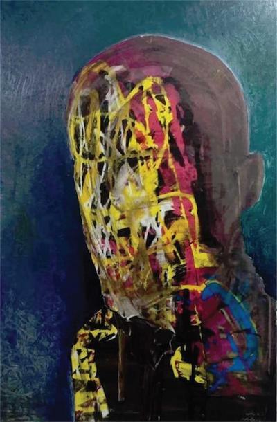Self portrait 2, 2015, Oil on canvas, 140x100cm