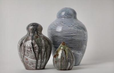 Untitled, Glazed Ceramic,29 x 18 cm - 22 x 15 cm -  13 x 9 cm