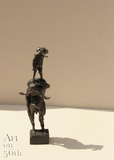 Untitled 3, 2018, Bronze, 28 x 9 cm