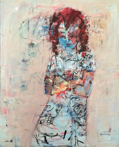 Child 2, 2016, Acrylic on canvas, 100 x 80 cm
