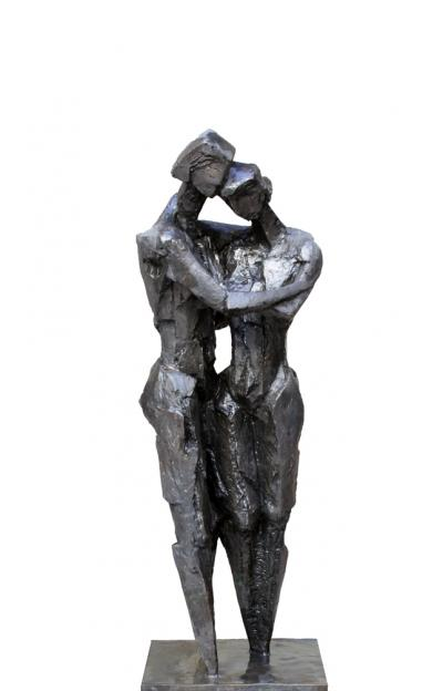 The day he whispered I love you, Bronze 4/8, 127x44.5x35.5 cm