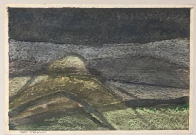 Untitled B4, 1987, Mixed media on paper, 21 x 30 cm