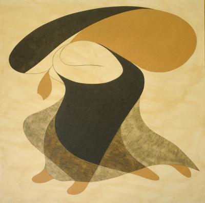 Migration, 2011, natural sand on canvas, 150x150cm