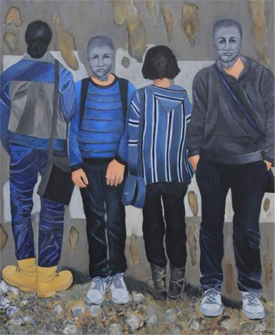 Blocked, 2014, Acrylic on canvas, 120x100cm