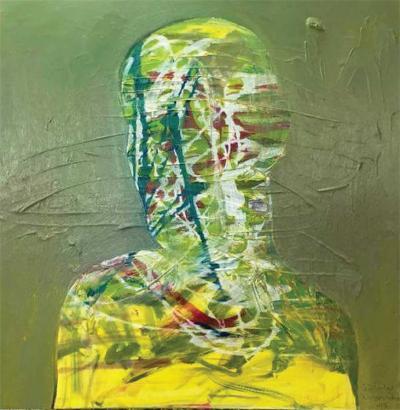 Self portrait 4, 2015, Acrylic on canvas, 80x80cm