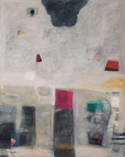 Girl in the age of the veil, 2010, Acrylic and oil  on canvas, 162x130cm.