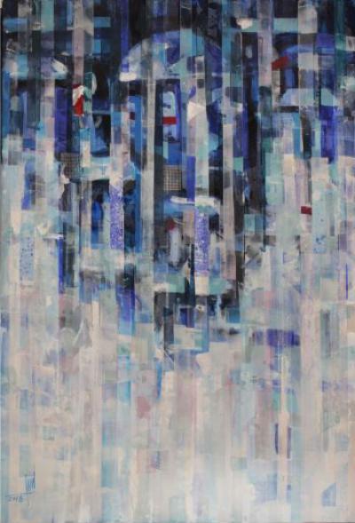 Landscape 1, 2018, Mixed media on canvas, 120 x 80 cm