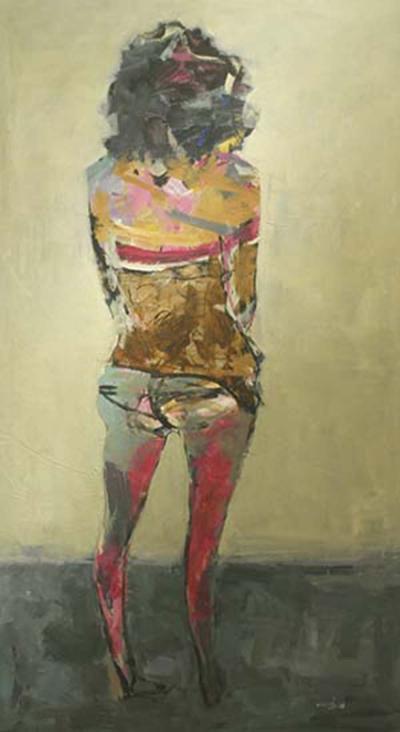 Decision, 2013, Acrylic on canvas, 230 x 130cm