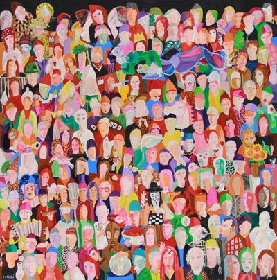 The Lives of Others 1 | acrylic on canvas | 200 x 200 cm