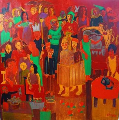Untitled 22  , 2015, acrylic on canvas, 150x150.cm