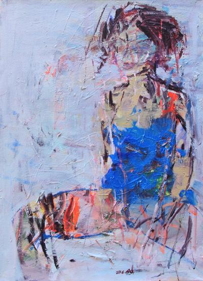 Untitled 33, 2016, acrylic on canvas, 70 x 50 cm